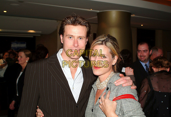 "DEAN McDERMOTT & MARY JO EUSTACE.October 2003 - File Photo - Dean McDermott with wife Mary JoEustace in happier times.Actor Dean McDermott  filed for divorce from his wife of 12 years, Mary Jo Eustace citing irreconcilable differences in the petition filed in Los Angeles Superior Court September 9, 2005..Married in July 1993 they separated September 2, 2005..McDermott recently filmed the TV film ""Mind Over Murder"" with now-separated Tori Spelling. He is asking for joint custody of a seven-year-old son and two-month-old daughter..McDermott has appeared in more than 25 made-for-TV movies, including ""Kojak,"" ""H-2-O"" and ""Wall of Silence. .McDermott is now engages to Tori Spelling..Photo: Brent Perniac/AdMedia/Capital Pictures.Ref: BP/ADM.headshot portrait necklace.www.capitalpictures.com.sales@capitalpictures.com.© Capital Pictures."