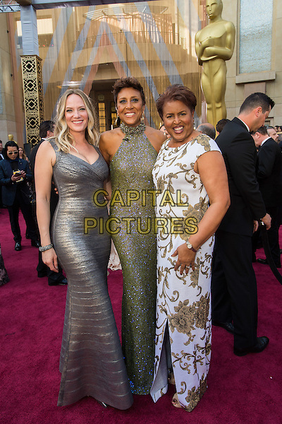 TV personality Robin Roberts and guests arrive at The 88th Oscars&reg; at the Dolby&reg; Theatre in Hollywood, CA on Sunday, February 28, 2016.<br /> *Editorial Use Only*<br /> CAP/PLF<br /> Supplied by Capital Pictures