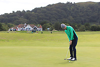 Mark Power from Ireland on the 1st green during Round 1 Singles of the Men's Home Internationals 2018 at Conwy Golf Club, Conwy, Wales on Wednesday 12th September 2018.<br /> Picture: Thos Caffrey / Golffile<br /> <br /> All photo usage must carry mandatory copyright credit (© Golffile | Thos Caffrey)