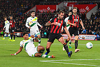 Onel Hernandez of Norwich City scores to make the score 1-1 during AFC Bournemouth vs Norwich City, Caraboa Cup Football at the Vitality Stadium on 30th October 2018