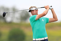 Ben Evens (ENG) on the 1st tee during Round 1 of the Challenge de Madrid, a Challenge  Tour event in El Encin Golf Club, Madrid on Wednesday 22nd April 2015.<br /> Picture:  Thos Caffrey / www.golffile.ie