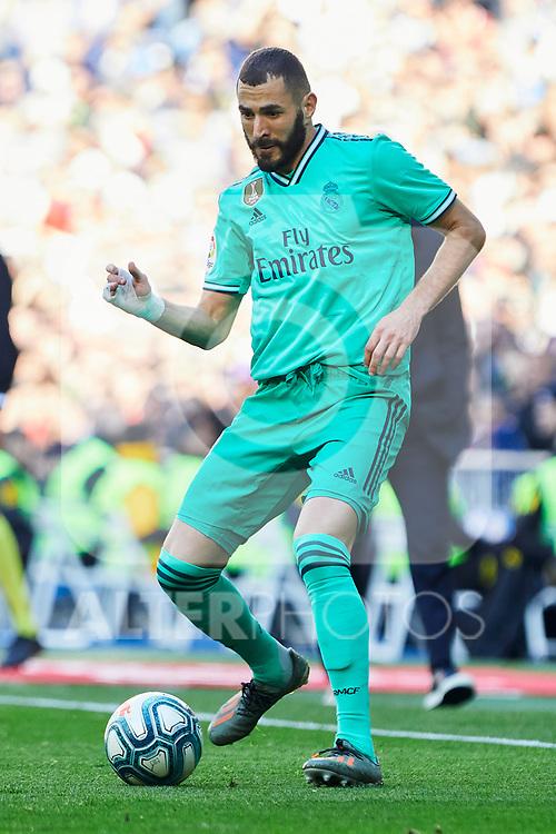 Karim Benzema of Real Madrid during La Liga match between Real Madrid and RCD Espanyol at Santiago Bernabeu Stadium in Madrid, Spain. December 07, 2019. (ALTERPHOTOS/A. Perez Meca)