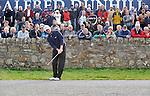 Pic Kenny Smith............. 05/10/2009.Dunhill Links Championship, St Andrews Links final day, Michael Hoey plays from the road at the 17th 'road hole'
