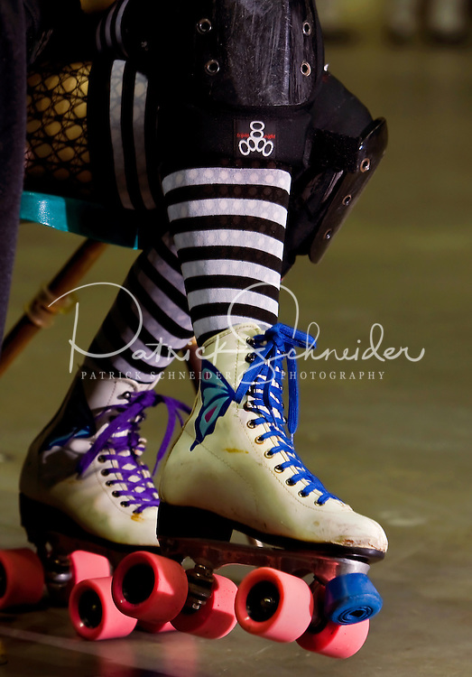 Charlotte Roller Derby Girls at Bojangles Arena in Charlotte, NC.