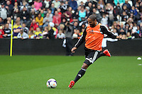 Wednesday, 23 April 2014<br /> Pictured: Ashley Williams.<br /> Re: Swansea City FC are holding an open training session for their supporters at the Liberty Stadium, south Wales,
