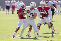 STANFORD, CA - MARCH 7, 2014--Stanford's Austin Hooper, during Open Football Practices at Stanford University.
