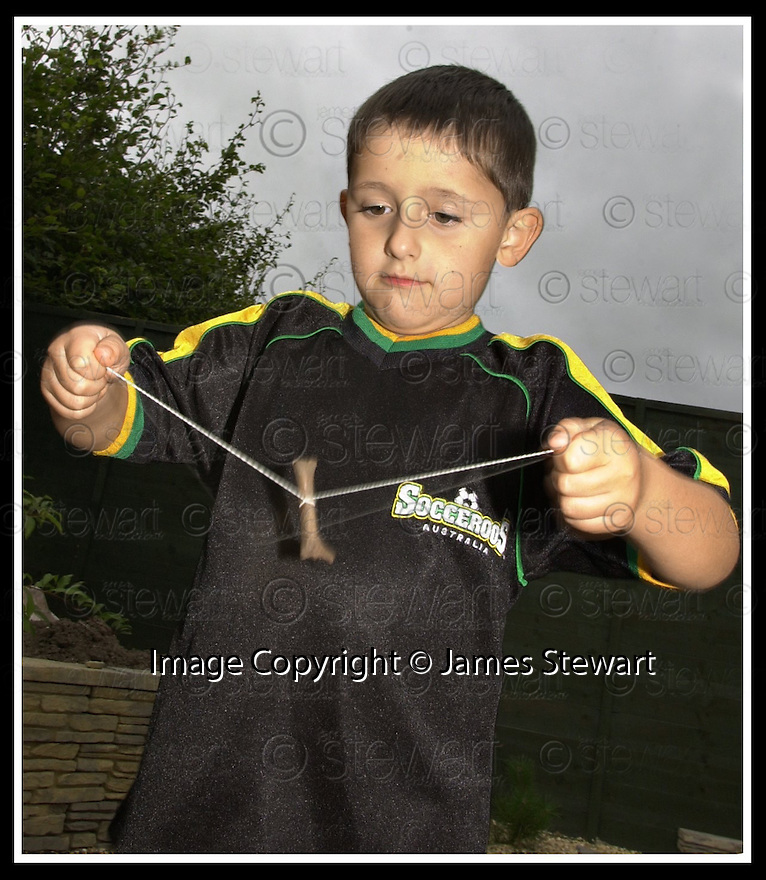 02/11/2001                 Copyright Pic : James Stewart                          .File Name : stewart03-bone toy.RYAN STEWART (5) FROM FALKIRK TRIES TO MAKE USE OF THE BONE TOY FOUND BY ARCHAEOLOGISTS.........(see copy from George Mair / Tim Bugler).James Stewart Photo Agency, Stewart House, Stewart Road, Falkirk. FK2 7AS      Vat Reg No. 607 6932 25.Office : +44 (0)1324 630007     Mobile : + 44 (0)7721 416997.Fax     :  +44 (0)1324 630007.E-mail : jim@jspa.co.uk.If you require further information then contact Jim Stewart on any of the numbers above.........