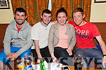Enjoying the Fundraising Quiz night in aid of Amy at the Na Gaeil Clubhouse on Thursday were Shane Roche, Stephen Roche, Ashling McVey and Carl Johnson