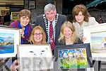 Artists l-r: Olivia O'Carra, Deborah O'Keeffe, Sean Counihan Killarney Mayor, Tina Reed and Therese O'Keeffe who held an open air art exhibition in Milk Market lane, Killarney on Saturday..
