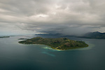 Aerial - Great Sea Reef showing Macuata-i-wai Island.