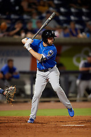 Biloxi Shuckers Michael O'Neill (10) at bat during a Southern League game against the Pensacola Blue Wahoos on May 3, 2019 at Admiral Fetterman Field in Pensacola, Florida.  Pensacola defeated Biloxi 10-8.  (Mike Janes/Four Seam Images)