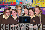 Listowel Presentation students at the Kerry Diocean School project in the Dromhall Hotel Killarney on Thursday l-r: Lisa McDonough, Mary Moylan, Clodagh Meehan, Ciara Dineen, Cro?na Barry and Aoife Murphy      Copyright Kerry's Eye 2008