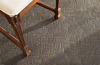 Jute, a hand-cut tumbled mosaic, shown in Cavern , is part of the Tissé™ collection for New Ravenna.