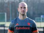 UTRECHT - Billy Bakker, in away / uit shirt speler Nederlands Hockey Team heren. COPYRIGHT KOEN SUYK