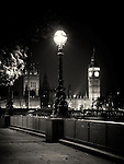 South Bank and Houses of Parliament, London, uk