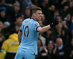 Edin Dzeko of Manchester City celebrates scoring the third goal - Barclays Premier League - Manchester City vs Newcastle Utd - Etihad Stadium - Manchester - England - 21st February 2015 - Picture Simon Bellis/Sportimage