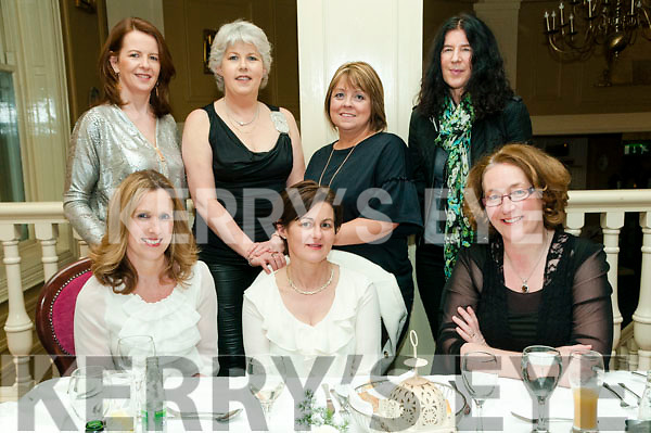 BirthDay Party:  Suzanne Lynch,  Glin celebrating her birthday with family & friends RT the Listowel Arms Hotel on Friday night last. Front ; Elaine Connolly, Suzanne Lynch & Caroline McLoughlin. Back : Liz Horgan, Clione Fitzgerald, Ann Manning & Catherine Lynch.
