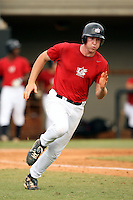 September 15, 2009:  Travis Harrison, one of many top prospects in action, taking part in the 18U National Team Trials at NC State's Doak Field in Raleigh, NC.  Photo By David Stoner / Four Seam Images