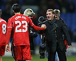 Brendan Rodgers manager of Liverpool celebrates with Emre Can of Liverpool - FA Cup Fourth Round replay - Bolton Wanderers vs Liverpool - Macron Stadium  - Bolton - England - 4th February 2015 - Picture Simon Bellis/Sportimage