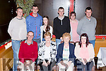 Kathleen Moriarty, Ballyspillane, Killarney who celebrated her 60th birthday with her family in the Killarney Oaks hotel on Saturday night front row l-r: John and Kathleen Moriarty, Mary cronin, Sarah moriarty. Back row: Michael, Kevin, Moriarty, Lily Atkinson, Robert, John and Freda Moriarty