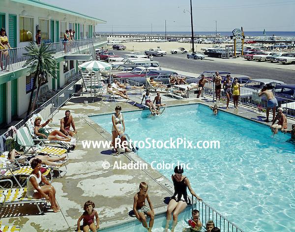 Bel Air Motel  Pool, Wildwood NJ 1960's Pool & Ocean View