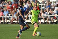 Kansas City, MO - Saturday June 25, 2016: Yael Averbuch, Merritt Mathias during a regular season National Women's Soccer League (NWSL) match at Swope Soccer Village.
