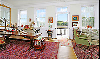 BNPS.co.uk (01202 558833)<br /> Pic: Riverhomes/BNPS<br /> <br /> 1st floor lounge with a balcony and stunning views over the Thames....<br /> <br /> Buy a bit of London Pride...Red Lion House was once the pub attached to the famous Fullers brewery in Chiswick.<br /> <br /> Yours for &pound;8million - Beer fans with deep pockets will want to get their hands on this famous former pub - as it's all but attached to the historic Fullers brewery by the Thames in Chiswick.<br /> <br /> Red Lion House, on exclusive Chiswick Mall in west London, was originally built as a pub more than 300 years ago for Thomas Mawson's brewery, which went on to become Fuller's in 1845.<br /> <br /> Back in the 18th and 19th centuries, the pub would have been a bustling hive of activity with boat crews and carters as regular customers, but it is now a tranquil and elegant riverside home.<br /> <br /> It does have an incredible wine cellar with a barrelled ceiling that is perfect for hosting parties if the new owners want to play publican.