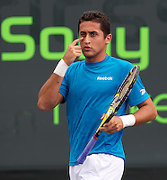 Nicolas ALMAGRO (ESP) against Eduardo SCHWANK (ARG) in the second round of the mens singles. Almagro beat Schwank 6-4 7-5..International Tennis - 2010 ATP World Tour - Sony Ericsson Open - Crandon Park Tennis Center - Key Biscayne - Miami - Florida - USA - Fri 26 Mar 2010..© Frey - Amn Images, Level 1, Barry House, 20-22 Worple Road, London, SW19 4DH, UK .Tel - +44 20 8947 0100.Fax -+44 20 8947 0117
