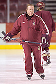 Jim Logue - Boston College's morning skate on Saturday, December 31, 2005 at Magness Arena in Denver, Colorado.  Boston College defeated Princeton that night to win the Denver Cup.