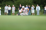 Peter Uihlein lines up a birdie putt on the 13th green during the 3rd round of ISPS Handa Wales Open 2013<br /> Celtic Manor Resort<br /> <br /> 31.08.13<br /> <br /> ©Steve Pope-Sportingwales