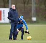 Gary Locke at Rangers training
