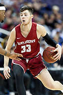 Washington, DC - MAR 10, 2018: Saint Joseph's Hawks forward Taylor Funk (33) brings the ball up court during semi final match up of the Atlantic 10 men's basketball championship between Saint Joseph's and Rhode Island at the Capital One Arena in Washington, DC. (Photo by Phil Peters/Media Images International)