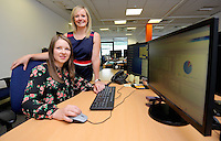 Pictured: Laura Burkinshaw (R) with Laura Carter Wednesday 10 August 2016<br /> Re: dexrexlegal in the SA1 area of Swansea, Wales, UK.