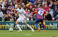 "Pictured L-R: Ashley ""Jazz"" Richards marked by Jason Puncheon of Crystal Palace<br />