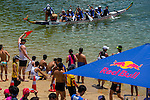 Athletes compete at the Red Bull Dragon Roar event at Stanley Main Beach on 28 June 2014, in Hong Kong, China. Photo by Aitor Alcalde /  Power Sport Images