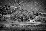 An abandoned shack on the road from Wanaka tp Glendhu Bay on the south island of New Zealand