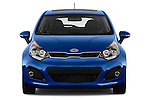 Car photography straight front view of a 2015 KIA Rio AT SX 5 Door Hatchback 2WD Front View
