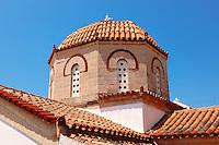 Dome of the church of Perdika, Aegina Island, Greece