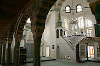 The Kazasker Ivaz Efendi Mosque in Ayvansaray, Istanbul, Turkey, with its wooden columns