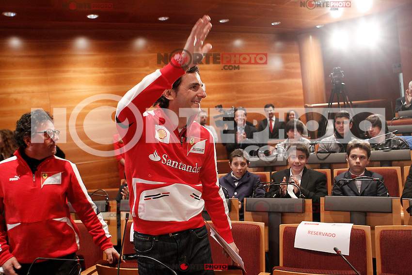 The test driver for Ferrari Pedro de la Rosa (r) and Luca Baldisserri director of the Ferrari Driver Academy during the gala Santander  Karting Champions 2012..(Alterphotos/Acero) NortePhoto