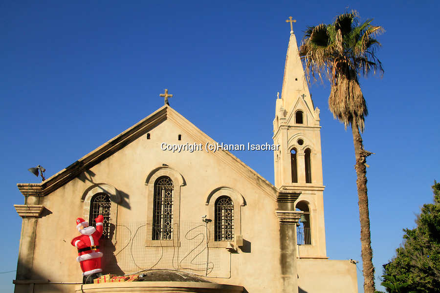 Israel, Jaffa, Christmas at the Greek Orthodox Church of St. George