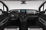 Stock photo of straight dashboard view of a 2019 Citroen Berlingo Feel 5 Door MPV
