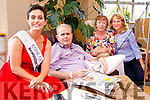 John and Colette Clohessy (The Spa) Aine Moriarty (staff nurse) pictured at the Palliative Care Unit, Kerry General Hospital, on Friday morning with reigning Rose of Tralee Maria Walsh.
