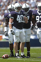 01 September 2007:  Penn State LB Dan Connor (40)..The Penn State Nittany Lions defeated the Florida International Golden Panthers 59-0 September 1, 2007 at Beaver Stadium in State College, PA..