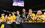 SAN ANTONIO, TX - APRIL 02:  Michigan Wolverines fans react in the 2018 NCAA Men's Final Four National Championship game against the Villanova Wildcats at the Alamodome on April 2, 2018 in San Antonio, Texas.  (Photo by Josh Duplechian/NCAA Photos via Getty Images)
