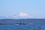 Port Townsend, Rat Island Regatta, OPRA, Olympic Peninsula Rowing Association; Wintech 2X, rowers, kayakers, standup paddlers, racing, Sound Rowers, Rat Island Rowing Club, Puget Sound, Olympic Peninsula, Washington State, water sports, rowing, kayaking, competition,