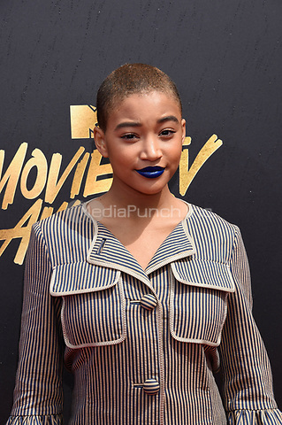 LOS ANGELES, CA - MAY 7: Amandla Stenberg at the 2017 MTV Movie and TV Awards at The Shrine Auditorium in Los Angeles, California on May 7, 2017. Credit: David Edwards/MediaPunch