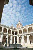 The main courtyard of the Santo Domingo convent. Oaxaca City, Oaxaca, Mexico