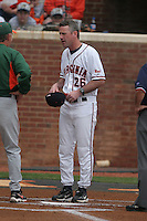 Brian O'Connor of the Virginia Cavaliers vs. the Miami Hurricanes:  March 24th, 2007 at Davenport Field in Charlottesville, VA.  Photo By Mike Janes/Four Seam Images