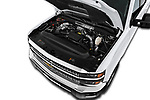 Car stock 2018 Chevrolet Silverado 2500 LT Crew Cab 4 Door Pick Up engine high angle detail view